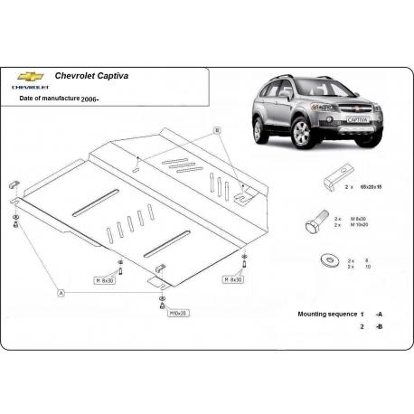Chevrolet Captiva Unterfahrschutz - Stahl