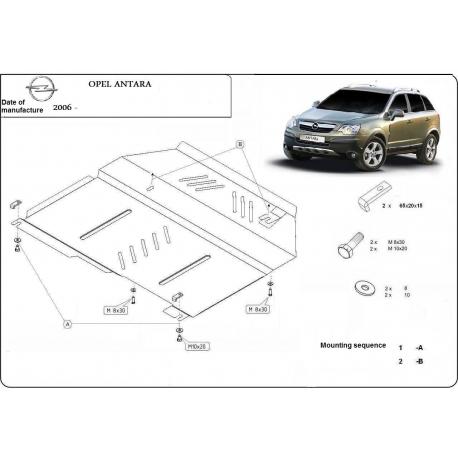 Opel Antara Unterfahrschutz 2.4, 3.2 - Stahl