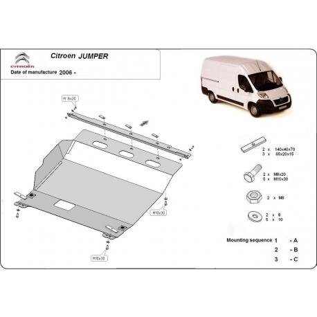Citroen Jumper Unterfahrschutz 2.2HDi, 2.3TD, 3.0HDi - Stahl