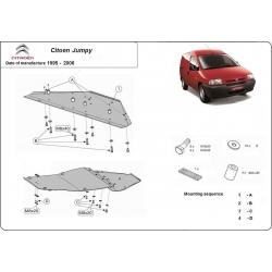 Citroen Jumpy Unterfahrschutz 1.8, 1.9D, 1.9TD, 2.0HDI, 2.3JTD, 2.5TD, 2.8JTD - Stahl