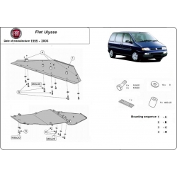 Fiat Ulysse Unterfahrschutz 1.8, 1.9D, 1.9TD, 2.0HDI, 2.3JTD, 2.5TD, 2.8JTD - Stahl