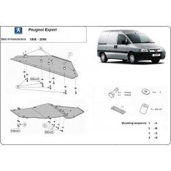 Peugeot Expert Unterfahrschutz 1.8, 1.9D, 1.9TD, 2.0HDI, 2.3JTD, 2.5TD, 2.8JTD - Stahl