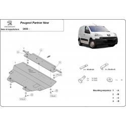 Peugeot Partner Unterfahrschutz 1.4, 1.9TDi - Stahl