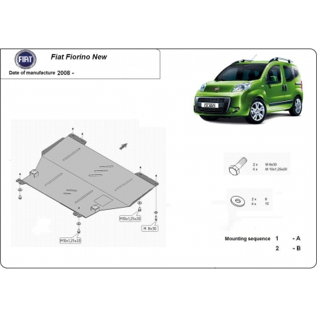 Fiat Fiorino Unterfahrschutz 1.4, 1.9TDi - Stahl