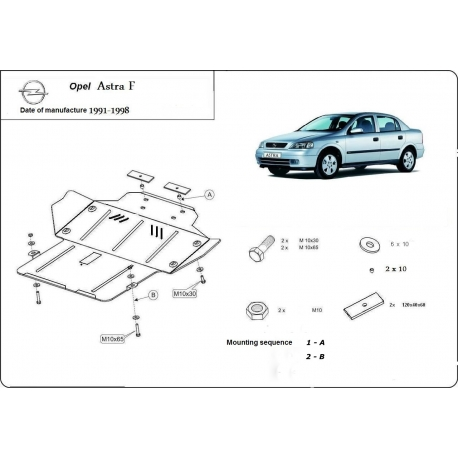 Opel Astra F Unterfahrschutz - Stahl