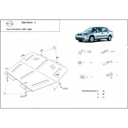 Opel Astra G Unterfahrschutz 1.4, 1.7D, 2.0 - Stahl