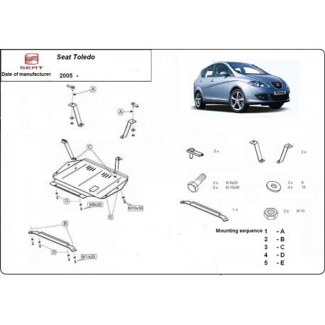 Seat Toledo Unterfahrschutz - Stahl