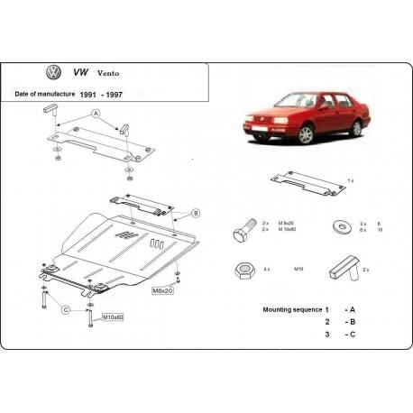 VW Vento Unterfahrschutz 1.4, 1.6, 1.9D - Stahl