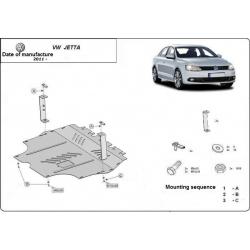 VW Jetta Unterfahrschutz 1.2, 1.4TSI, 1.6, 2.0TDi - Stahl