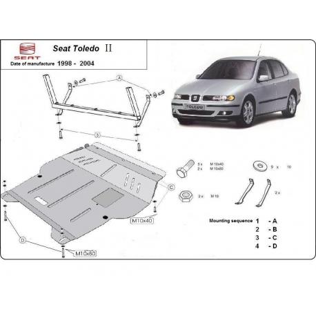 Seat Toledo Unterfahrschutz 1.6, 2.0, 1.9TD - Stahl