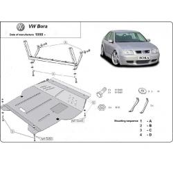 VW Bora Unterfahrschutz 1.4, 1.6(101HP), 1.8, 1.8RS, 1.9TD, 2.0, 2.3 V5 - Stahl