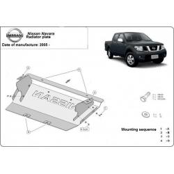 Nissan Navara (Schutz für Kühler) 2.5 dCi (4WD), 4.0 (4WD) - Stahl