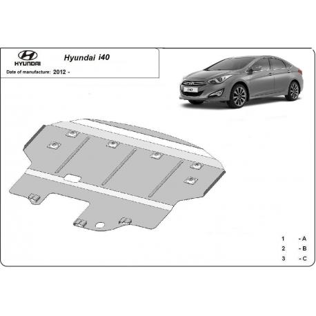 Hyundai I40 Unterfahrschutz - Stahl
