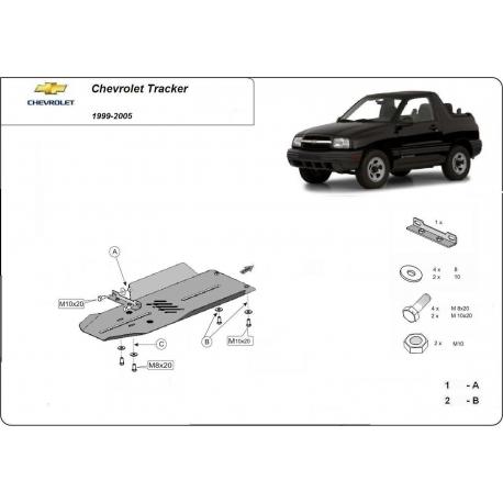 Chevrolet Tracker Unterfahrschutz 1.6, 1.9, 2.0, 2.4 - Stahl