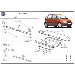 Fiat Idea Unterfahrschutz - Stahl