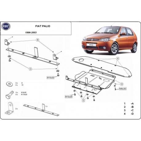 Fiat Palio Unterfahrschutz - Stahl
