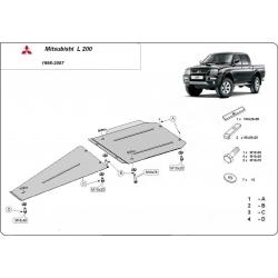 Mitsubishi L200 (Schutz für Differential und Schaltgetriebeschutz) - Stahl