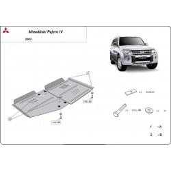 Mitsubishi Pajero IV (V80, V90) Getriebeschutz 3.8, 3.2 Di-D - Stahl