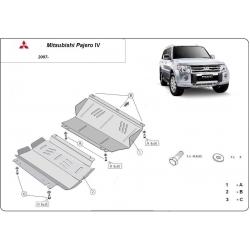 Mitsubishi Pajero IV (V80, V90) Unterfahrschutz 3.8, 3.2 Di-D - Stahl