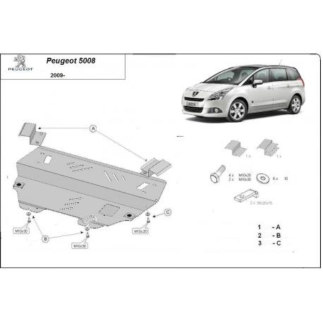 Peugeot 5008 Unterfahrschutz 1.6MT - Stahl