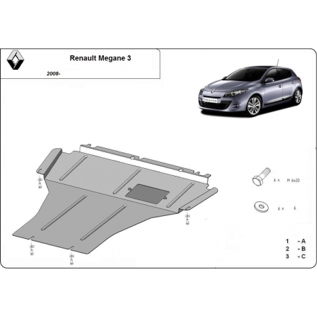 Renault Megane III Unterfahrschutz 1.5Dci - Stahl