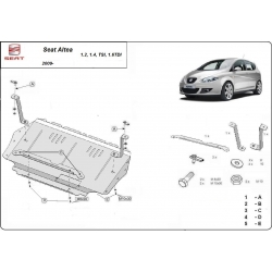 Seat Altea Unterfahrschutz 1.2, 1.4Tsi, 1.6Tdi - Stahl