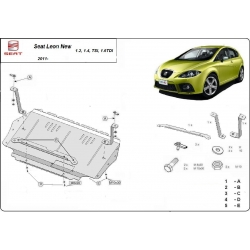 Seat Leon Unterfahrschutz 1.2, 1.4 Tsi, 1.6 Tdi - Stahl