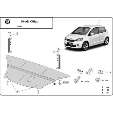 Škoda Citigo Unterfahrschutz - Stahl