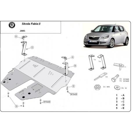 Škoda Fabia Unterfahrschutz - Stahl