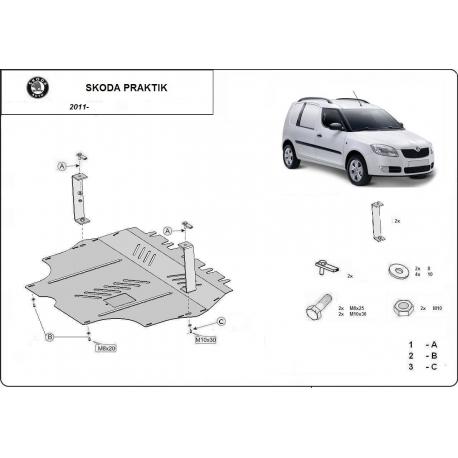 Škoda Praktik Unterfahrschutz 1.2, 1.4, 1.9 Tdi - Stahl