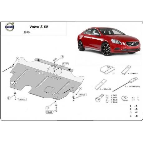 Volvo S60 Unterfahrschutz 1.6, 1.6D, 2.0T - Stahl