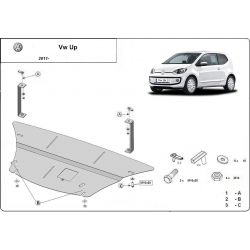 VW Up Unterfahrschutz - Stahl