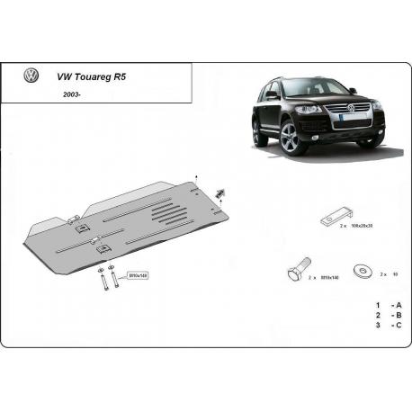 VW Touareg R5 Unterfahrschutz 2.5Tdi, 3.0Tdi, 3.2V6 - Stahl