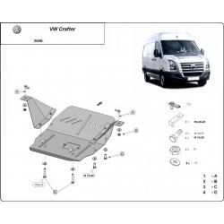 VW Crafter Unterfahrschutz 2.2, 2.5, 3.0, TD - Stahl