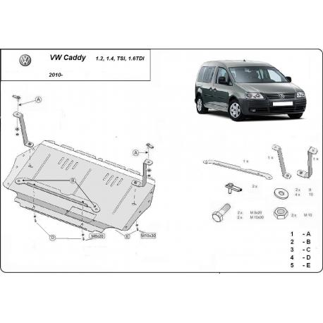 VW Caddy Unterfahrschutz - Stahl
