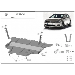 Vw Golf VII Unterfahrschutz 1.2Tsi, 1.4, 1.6 - Stahl