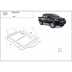 Toyota Hilux II (Schutz für Differential) 3.0D - Stahl