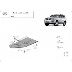 Toyota Land Cruiser 120 (Schutz für Differential) 3,0D, 4,2D - Stahl