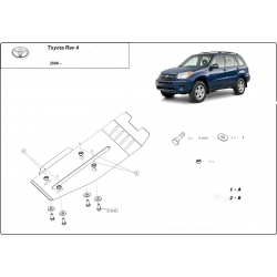 Toyota Rav4 (Schutz für Differential) 2.4 - Stahl