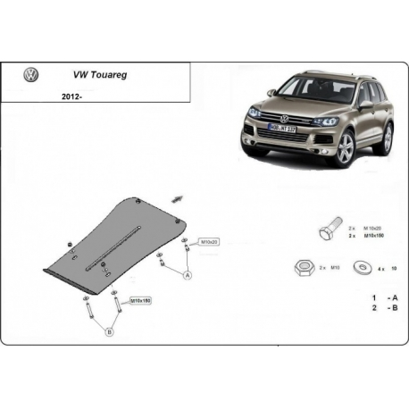 VW Touareg Unterfahrschutz 2.0, 2.5 TDi, 3.0 TDi, 3.2 V6 - Stahl
