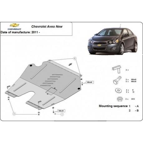 Chevrolet Aveo Unterfahrschutz 1.4B, 1.6D - Stahl