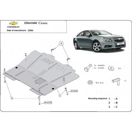 Chevrolet Cruze Unterfahrschutz - Stahl