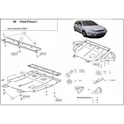 Ford Focus I Unterfahrschutz - Stahl