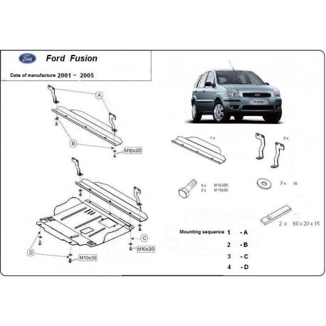 Ford Fusion Unterfahrschutz - Stahl