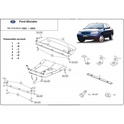 Ford Mondeo I-II Unterfahrschutz 1.8, 2.0 - Stahl