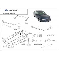 Ford Mondeo III Unterfahrschutz 1.8 16V, 2.0 16V, 2.0TD, 2.2TDCi - Stahl