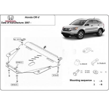 Honda CRV Unterfahrschutz 2.0 - Stahl