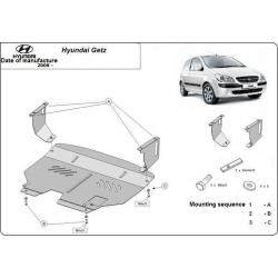 Hyundai Getz Unterfahrschutz 1.1, 1.3, 1.6 - Stahl
