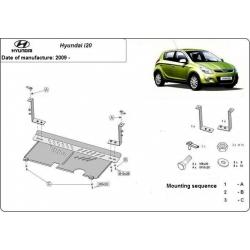 Hyundai i20 Unterfahrschutz 0.9, 1.1, 1.2, 1.4TDi - Stahl