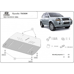 Hyundai Tucson Unterfahrschutz 2.0 CRDi, 2.7 Allroad - Stahl